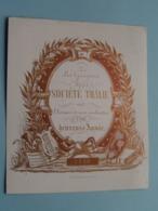 1856 > Les Garçons De La Société THÂLIE (Année) Lith. Vanderauwera ( Porcelein / Porcelaine ) Formaat +/- 15 X 12,5 Cm - Estampes & Gravures