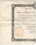 24610 - Bachelier  1895 - Diplômes & Bulletins Scolaires