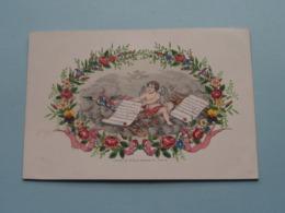 Marie MEURIS Gand & JANSEN Brux. : Lith. Hemelsoet Gand ( Porcelein / Porcelaine ) Formaat +/- 15 X 10 Cm - Annunci Di Nozze