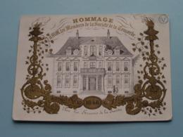 1848 HOMMAGE Membres De La Soc. De La CONCORDE : Lith. Gyselynck Gand (Porcelein / Porcelaine ) Formaat +/- 15,5 X 11 Cm - Estampes & Gravures