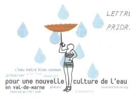 VAL DE MARNE - POUR UNE NOUVELLE CULTURE DE L EAU, FEMME AU PARAPLUIE, PAP ENTIER POSTAL FLAMME 2008, VOIR LES SCANNERS - Umweltschutz Und Klima