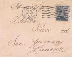 BUSTA VIAGGIATA -  REGNO - TORINO - VIAGGIATA PER  SAN GIOVANNI CANAVESE ( TORINO) - 1900-44 Vittorio Emanuele III