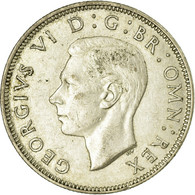 Monnaie, Grande-Bretagne, George VI, Florin, Two Shillings, 1943, TTB, Argent - 1902-1971 : Monedas Post-Victorianas