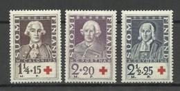 FINLAND FINNLAND 1935 Michel 188 - 190 * - Unused Stamps