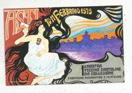 Cp, Bourses & Salons De Collections, Italie ,ASTI , 1ére Mostra Vecchie Cartoline Da Collezione,1979 , Dos Simple - Borse E Saloni Del Collezionismo