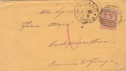 BUSTA VIAGGIATA -  REGNO - MILANO - VIAGGIATA PER CASTELFIORENTINO ( FIRENZE) - 1878-00 Umberto I