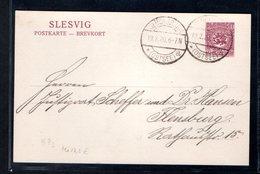 Slesvig, Ganzsache P 3 Gelaufen. - Ocupación 1914 – 18