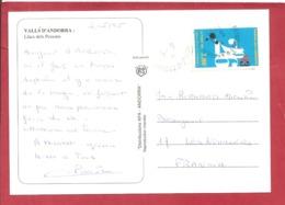 Y&T N° 453 ANDORRE LA VIEILLE  Vers   FRANCE  1995 - Cartas