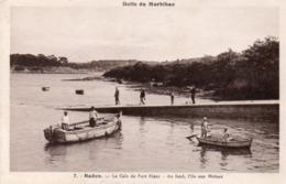 56 - BADEN - 7 - La Cale Du Port-Blanc - Au Fond, L'Ile Aux Moines - France