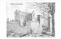 BERMERICOURT CARTE ALLEMANDE ILLUSTREE FELDPOSTKARTE - Frankreich