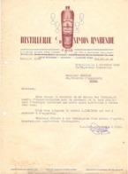Factuur Facture - Lettre - Liqueurs , Distillerie Simon Rynbende - Bruxelles 1949 - Alimentaire