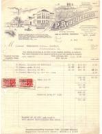Factuur Facture - Wijnen Likeuren - Ets P. Bruggeman - Gent 1935 - Food