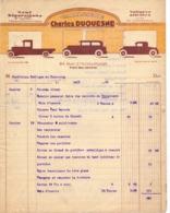 Factuur Facture - Voitures , Carrosserie Charles Duquesne à Tourcoing 1931 - Transports