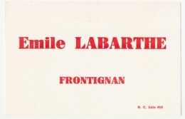 Buvard épais 20.9 X 13.5  Emile LABARTHE Frontigan Hérault Vins - Liqueur & Bière