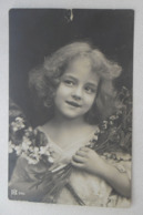 Happy Angela Girl Dans Deux Bouquets Rare Lettre Ouverte Intéressante Originale 1918 - Anges