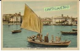 Lombardia-brescia-lago Di Garda Desenzano Panorama Dal Lago Veduta Diverse Barche Molo Case Animata (f.piccolo) - Altre Città