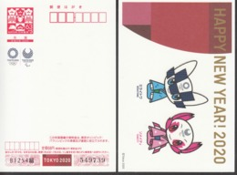 Japan 2019, Postal Stationery, New Year Greeting Post Card, Tokyo 2020 Olympic, One Card, MNH** - 1989-... Empereur Akihito (Ere Heisei)