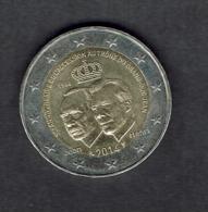 EURO LUXEMBOURG 2014 COMMEMO. 50 ème ANNIVERSAIRE ACCESSION TRONE Grand Duc / 2 Pièce De 2 Euros Circulation / BE - Lussemburgo