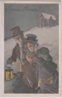 CPA Viennoise Bonne Année Couple Lanterne Vienne N°96.035 - Vienne