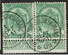 83 Paire  Obl Relais  Ophain-Bois-Seigneur - Isaac  + 10 X 2 - 1893-1907 Coat Of Arms