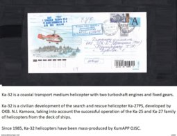 Russia . Helicopter KA - 32 .Stamped Stationery. - Hubschrauber