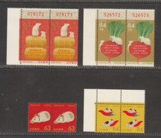 Japan 2019, For 2020 New Year , Year Of Mouse, 2x Set Of 4v, MNH** - 1989-... Empereur Akihito (Ere Heisei)