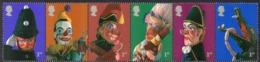 GREAT BRITAIN, 2001 PUNCH & JUDY STRIP 6 MNH - 1952-.... (Elizabeth II)