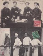 Cpa Tonkin - Lot De 2 Cartes ( Circulé  - Voir Scan Recto-verso) - Vietnam