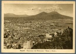 °°° Cartolina - Napoli Panorama Dal Ristorante Renzo E Lucia Viaggiata °°° - Napoli (Napels)