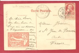 Y&T N° 74 LIEGE EXPO   Vers   FRANCE  1905 - 1905 Thick Beard