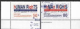 2000 Georgien Georgia  Mi. 356-7 Used   Human Rights - Europäischer Gedanke