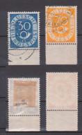 70 Und 30 Pfg. Posthorn Aus Bogen Gestempelt Je Unterrand BRD 132 Bg, Und 136 Bg - [7] Repubblica Federale