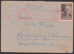 Polska Kepice Szezecin 22.7.47 Brief US Civil Censorhsip München Munich Letter To Heroldsberg Bei Nürnberg - Briefe U. Dokumente