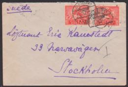 Polska POLEN Brief 1921 Nach Suede Stockholm Aus Warschau Warszawa - 1919-1939 Republic
