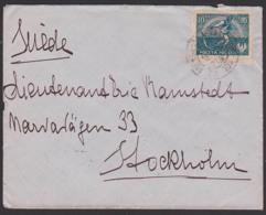 Polska POLEN Letter Brief 1921 Nach Schweden Stockholm - 1919-1939 República