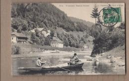 CPA 25 - Frontière Franco Suisse - La Verrerie Du Bief D'Etoz - TB PLAN ANIMATION Personnages Dans Barque + Habitations - Other Municipalities