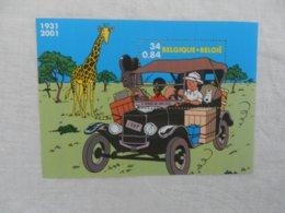 Planche De Timbre Neuf - Belgique - Hergé - Tintin 1931 2001 - Kleinbögen