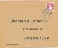 Denmark Cover Sent To Copenhagen Nörager 5-1-1940 Single Franked (Carl Fjorback Kolonial - Isenkram - Foderstoffer) - 1913-47 (Christian X)