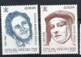 VATICAN N° 1036/7 ** - EUROPA  / FEMMES CELEBRES - Europa-CEPT
