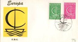 BELGIQUE Europa Premier Jour  Liège 26 - 9 - 1966 - FDC
