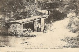 Cpa La Chapelle Baton La Fontaine De Monmuson - Sonstige Gemeinden