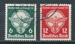 Deutsches Reich 689/90 Gestempelt Mi. 10,- - Usados