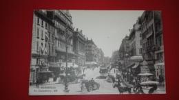 Cpa - Marseille - La Cannebière - Animée - - Canebière, Centro