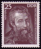2028 Bedeutende Persönlichkeiten 25 Pf Michelangelo ** - [6] Repubblica Democratica