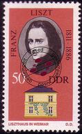 1861 Gedenkstätten Weimar Liszt 50 Pf O - [6] République Démocratique