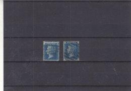 Grande Bretagne - Yvert 27 Oblitéré - Planche 9 Et 14 - 1 Valeur Impression à Cheval - Valeur 42 € ++ - 1840-1901 (Viktoria)