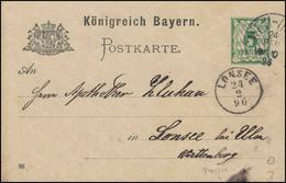 Bayern Postkarte NEU-ULM 24.2.96 Nach LONSEE 24.2.96 - Bayern (Baviera)