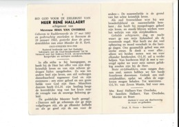 DP 8387 - RENE HALLAERT - RUDDERVOORDE 1892 + BEERNEM 1965  - OUDSTRIJDER 1914-1918 - Imágenes Religiosas