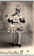 """Types De La Rue - LE MARCHAND De CARTES POSTALES - PUB: Exigez La MARQUE Au """"   / LOT 1651 - Marchands Ambulants"""