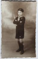 Belle Carte Photo Portrait D'un Jeune Scout En Tenue Roland 12 Ans Louveteau Scoutisme - Scoutismo